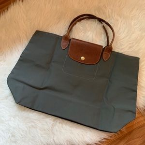 Longchamp Cabas Tote Dark Gray